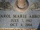 Profile photo:  Carol Marie Abbott