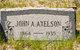 Profile photo:  John A. Axelson