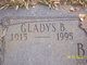 Profile photo:  Gladys B. <I>Brown</I> Butz