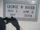 George W Bauer