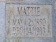 "Martha Irene ""Mattie"" <I>Foster</I> Bedingfield"
