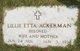 Lillie Etta <I>Michau</I> Ackerman