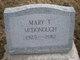 Mary <I>Thissell</I> McDonough