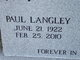 Profile photo:  Paul Langley Thompson
