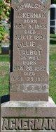 Lillie Adelia <I>Talbot</I> Ackerman