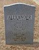 Profile photo:  Alvie Jackson Alexander