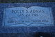 "Profile photo: Mrs Hattie Pauline ""Polly"" <I>Stough</I> Adams"