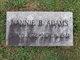 Profile photo:  Nannie Black <I>Biggs</I> Adams