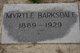 Profile photo:  Myrtle <I>Dismukes</I> Barksdale