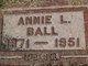 Profile photo:  Annie L. <I>Threlkeld</I> Ball
