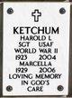 SGT Harold L Ketchum