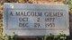 Profile photo:  A. Malcolm Gilmer