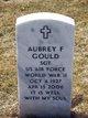 "Profile photo:  Aubrey Frederick ""Mickey"" Gould"