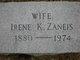 Emeline Irene <I>Keach Zaneis</I> Dunker