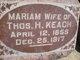 """Mariam """"Mary"""" <I>Hakes</I> Keach"""