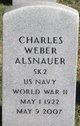 Profile photo:  Charles Weber Alsnauer