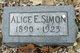 Profile photo:  Alice Eliz <I>Joyce</I> Simon