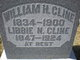 "Profile photo:  Amy Elizabeth ""Libbie"" <I>Newton</I> Cline"
