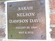 Sarah Nelson <I>Dawson</I> Davis