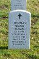 Profile photo:  Thomas Frank Bolan