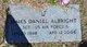 Sgt James Daniel Albright