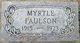 Profile photo:  Myrtle Helen <I>Warne</I> Paulson