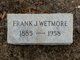 Profile photo:  Frank Jenney Wetmore