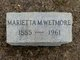 Profile photo:  Marietta Randall <I>Miller</I> Wetmore