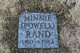 Minnie <I>Powell</I> Rand