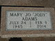 "Mary Jo ""Jody"" <I>Boyd</I> Adams"
