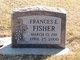 Frances Elizabeth <I>Parker</I> Fisher