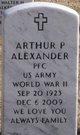 Profile photo:  Arthur P Alexander