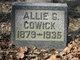 "Profile photo:  Alice Gertrude ""Allie"" <I>Hoag</I> Cowick"