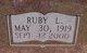 Profile photo:  Ruby Lorene <I>Henderson</I> Armstrong