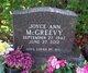Profile photo:  Joyce Ann McGreevy