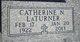 Profile photo:  Catherine Nadine <I>McMillan</I> LaTurner