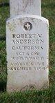 SGT Robert V Anderson