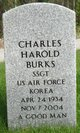 Profile photo:  Charles Harold Burks