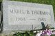 Profile photo:  Mabel Beatrice <I>Hamilton</I> Thurman