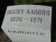 Becky Aarons