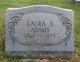 Laura Elizabeth <I>Holmes</I> Adams