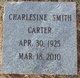 Profile photo:  Charlesine Smith Carter