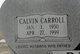Profile photo:  Calvin Carroll Buffkin