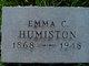 Profile photo:  Emma C. <I>Scott</I> Humiston