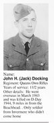 Profile photo: Rflmn John Hamilton <I> </I> Docking,