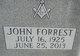 Profile photo:  John Forrest Woods Jr.