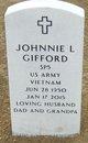 "Profile photo:  John L ""Johnnie"" Gifford"
