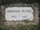 Profile photo:  Abraham Royse