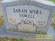 Sarah Myra <I>Jackson</I> Vowell