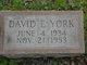 David Edward York
